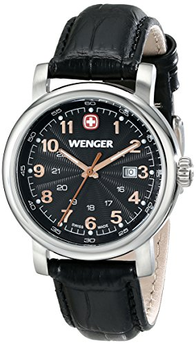 Wenger Women's 1021.105 Analog Display Swiss Quartz Black Watch by Wenger