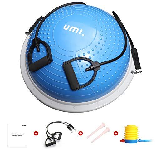 🥇 UMI. by Amazon -Balance Trainer Fitball Bola de Equilibrio para Entrenamiento 60cm con Inflador y Bomba para Fitness Gimnasio
