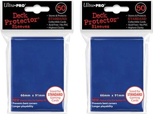 ((100x) Ultra PRO Blue Deck Protectors Sleeves Standard MTG Colors)