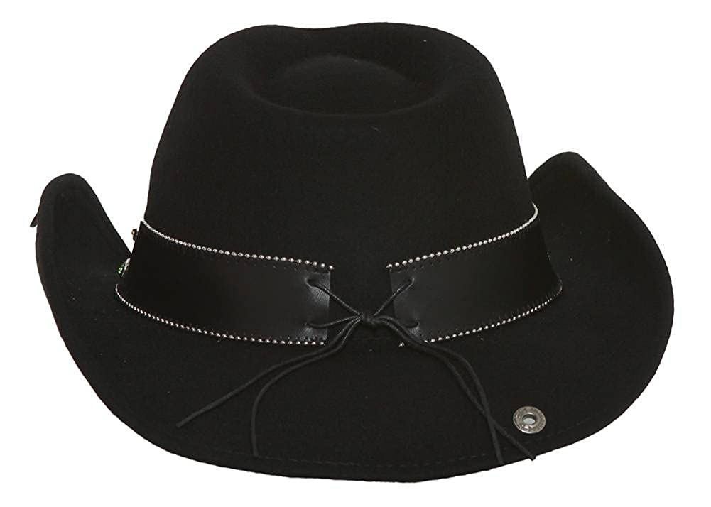 Peter Grimm Ltd Women s Garland Felt Cowgirl Hat Black One Size at Amazon  Women s Clothing store  128044ddba0