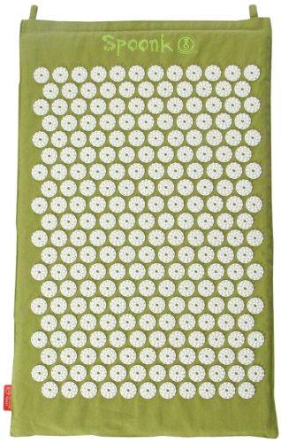 Sea Grass Green Hemp Acupressure Massage Mat with carry-bag