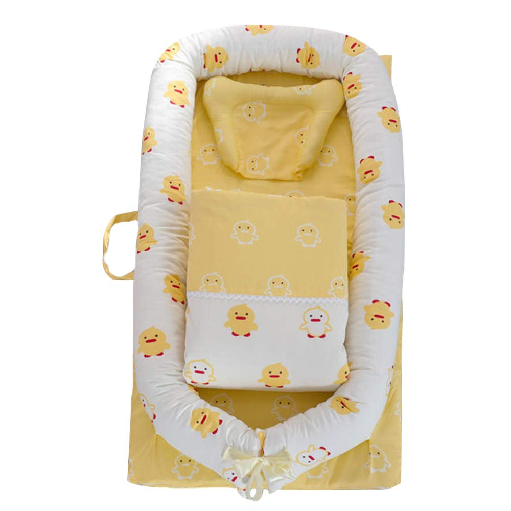 AbreezeベビーLounger、幼児Lounger、新生児Lounger :通気性、hypoallergenic-perfect for添い寝、コットンポータブル旅行幼児ベッド、ベビーベッド、Bassinet、またはPolar Bearベビーネスト L35.4