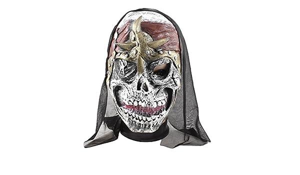Amazon.com: eDealMax Tijeras Imprimir máscara de goma Cara Fiesta de Halloween Atrezzo Negro Blanco: Home & Kitchen