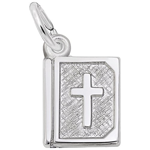 Rembrandt Charms, Bible.925 Sterling Silver, Engravable (Charm Cross Rembrandt)