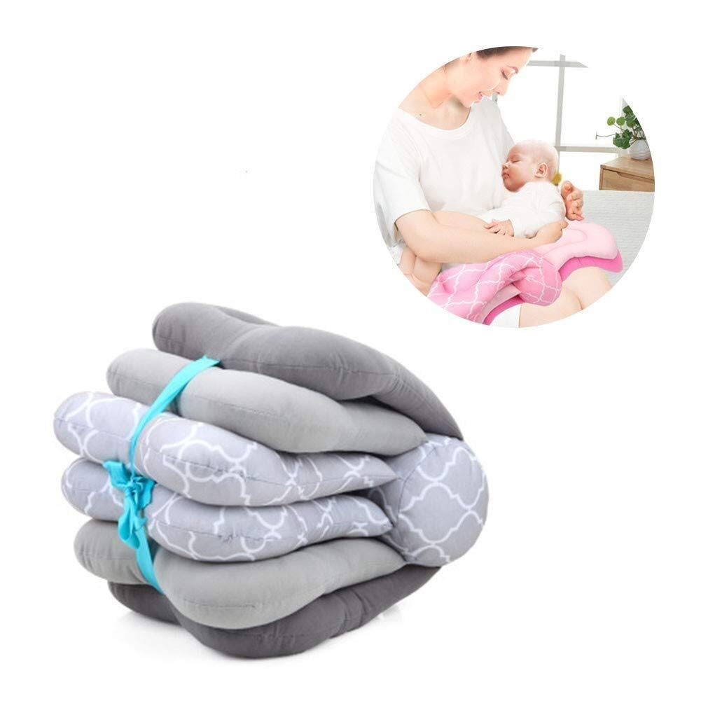 ETERLY Butterfly Flip Page Multifunctional Baby Feeding Pillow Pregnant Women Special Feeding Reduction Breastfeeding Pillow (Color : Gray, Size : 58x28cm) by ETERLY