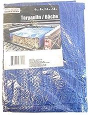 Tool Bench Hardware 4' X 6' Blue Tarp Tarpaulin by Tool Bench Hardware