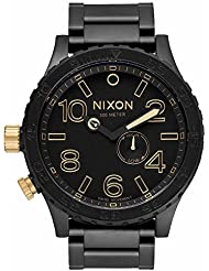 Nixon Mens 51-30 A0571041-00 Black Stainless-Steel Quartz Watch with Black Dial