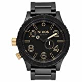 Nixon Men's 51-30 A0571041-00 Black Stainless-Steel Quartz Watch with Black Dial