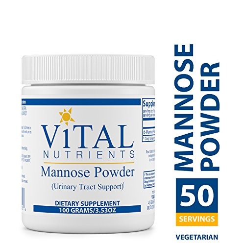 - Vital Nutrients - Mannose Powder - Urinary Tract Support - Vegetarian - 100 Grams per Bottle