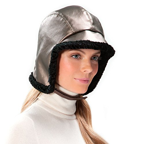 Eric Javits Designer Women's Head-wear Lancelot Hat (Pewter/Black) by Eric Javits