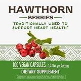 Nature's Way Premium Herbal Hawthorn Berries, 1,530 mg per serving, 100 Capsules