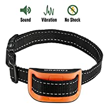 Bark Collar 丨Shock collar for dog Bark Control with Harmless Warning Sound and VIBRATION 7 Levels of Adjustable Sensitivity Control Electric Anti Bark Collar for 12-120 lb Dogs small and Medium Dogs (VIBRATION)