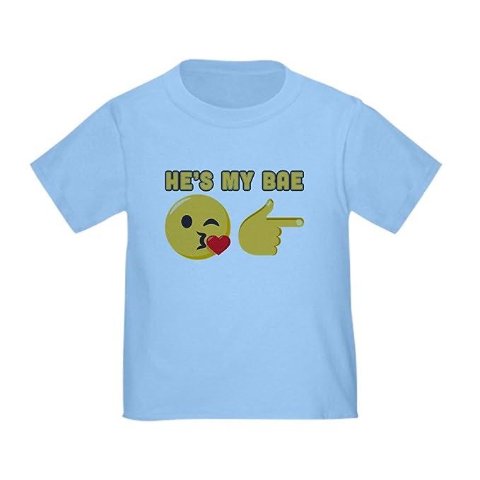 1e291036cc1 CafePress Emoji He s My Bae Toddler T Shirt Cute Toddler T-Shirt