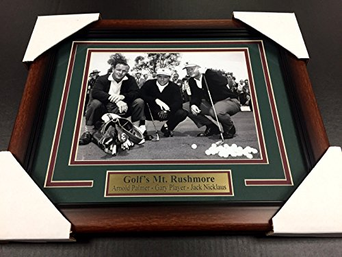 GOLF'S MT RUSHMORE ARNOLD PALMER JACK NICKLAUS GARY PLAYER 8X10 #1 PHOTO ()