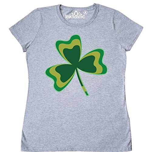 inktastic Green Irish Shamrock Light Women's T-Shirt Medium Athletic Heather