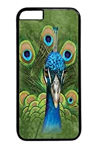 iphone 6plus 5.5 Case and Cover -Kids Vibrant Peacock Custom PC Hard Case Cover for iphone 6plus 5.5 inch Black