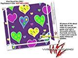 Crazy Hearts - Decal Style Skin fits Sony PlayStation 4 Slim Gaming Console