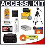 Accessory Kit for Canon Rebel XT & XTi Digital SLR Camera with Spare NB-2LH Battery + 2GB CF Memory Card + Tripod + Case + Cameta Bonus Accessory Kit