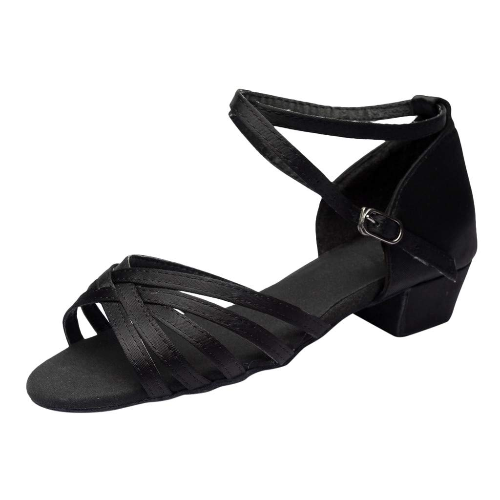 Women's Latin Dance Shoes,SMALLE◕‿◕ Women Standard Female's Ballroom Salsa Dance Shoes Beginner Practice Shoes Black