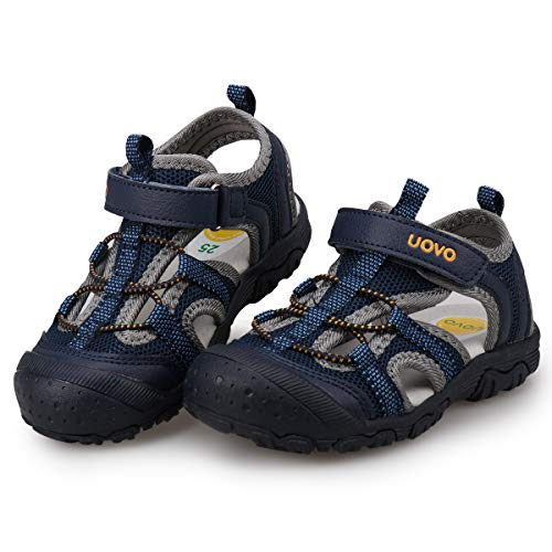 94e9566d1bfe UOVO Boys Sandals Kids Hiking Sandals Closed Toe Beach Sandals Athletic  Sport Sandals for Toddler Little Boys (11 M US Little Kid