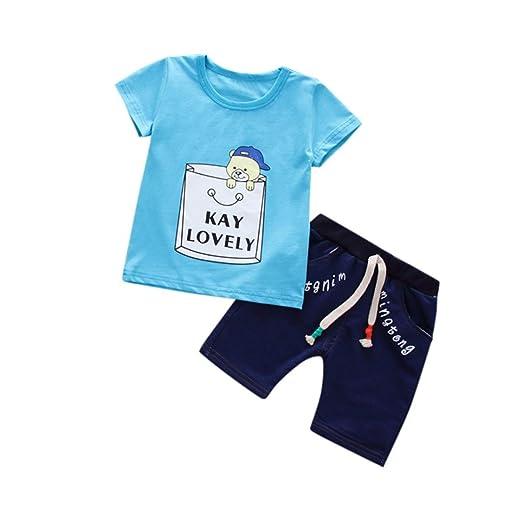 dc3a834f0 Amazon.com: Baby Boys' Outfits, Iuhan 1-4Years Kids Boys Cartoon T ...