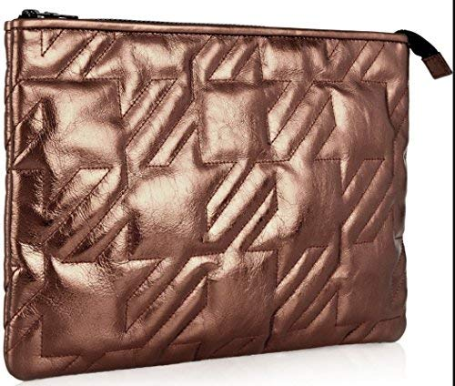 Maje Quilted Lambskin Leather Baguette Pouch; Copper-Designed in Italy