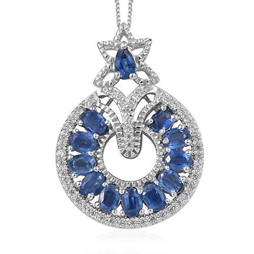 (Kyanite Zircon Pendant Necklace 20