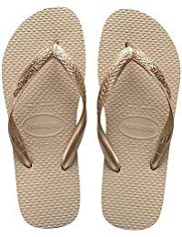Kit Sandália Havaianas 6 pares Color Mix Bege e Dourado 41/42