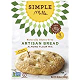 Simple Mills Artisan Bread Almond Flour Baking Mix, Gluten Free, Paleo, Natural, 9.0 Ounce Boxes (Pack of 3)