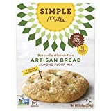 Simple Mills Almond Flour Mix, Artisan Bread, Naturally Gluten Free, 10.4 oz