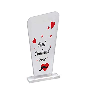 Buy 100yellow Valentines Day Gifts Valentine Gift For Husband Crystal Mementos And Trophy For Couples Boyfriend Husband Best Husband Ever Online At Low Prices In India Amazon In