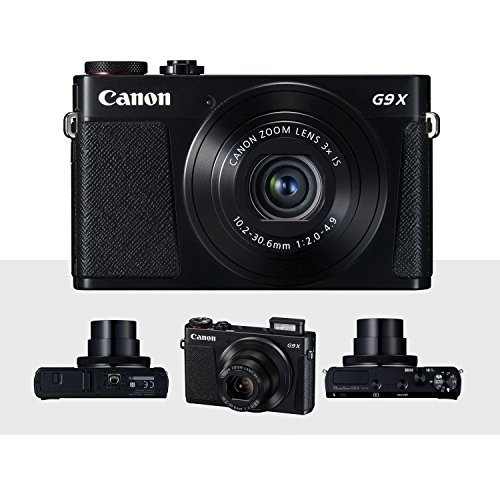 Canon PowerShot G9 X Mark II Digital Camera (Silver) W/Total of 64GB SD Card, and Deluxe Accessory Bundle ()