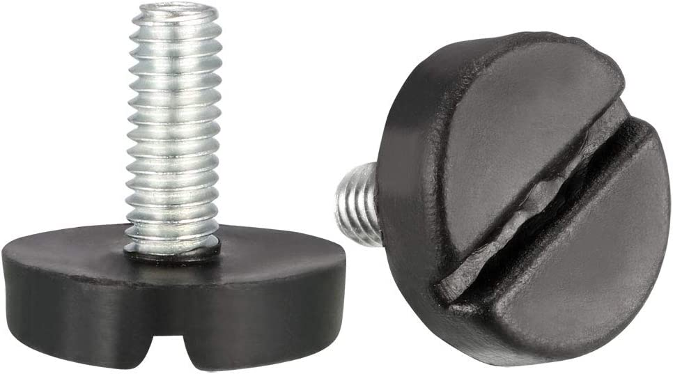 6 mm a 10 mm 16 pezzi Sourcingmap altezza regolabile filettatura M6 x 15 mm Livelli per mobili