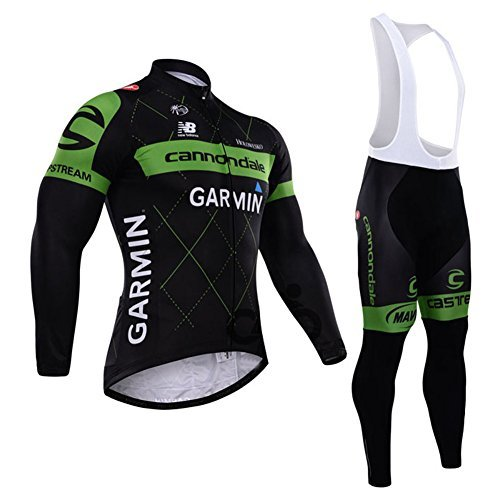 2014 Outdoor Sports Pro Team Men's Long Sleeve Cycling Jersey and Tights Set (Jersey Cycling Set compare prices)