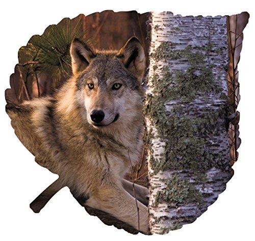 Next Innovations Leaf Wall Decor Metal Wall Art Wolf Tree on Large Aspen Leaf