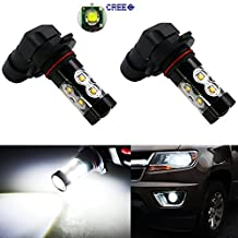 Anxingo H10 9145 LED Bulbs Extremely Bright Max 50W High Power for Fog Driving Lights Bulbs or Fog Lights Xenon White 2 set of