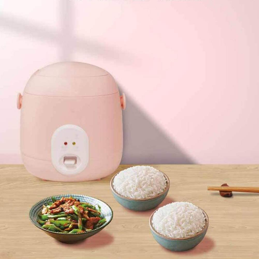 1.2 L | 200 W Portable Multi-Function Rice Cooker Non-Stick Inner Pot Easy To Clean High Temperature Protection Suitable for 1-2 People Use,Pink FDY Mini Rice Cooker