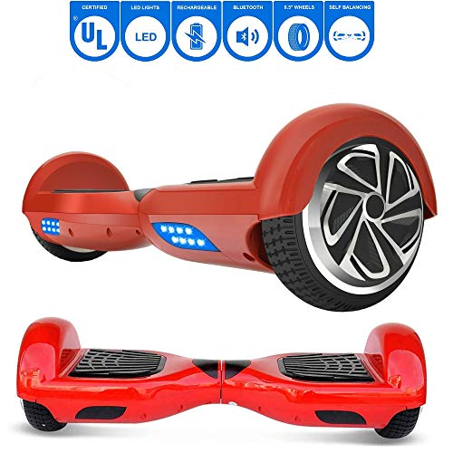 NHT 6.5 Hoverboard T67SE w/Bluetooth Speaker (Red)