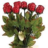 Chocolate Roses 19 Inch Semi-Solid Premium Milk Chocolate 2pk