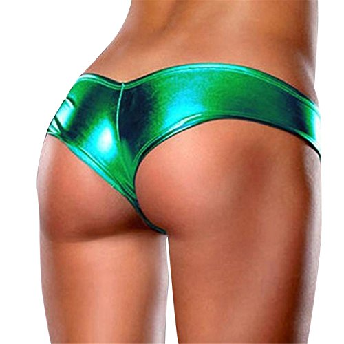 Womens Patent Leather Sexy Briefs Bikini Jockstraps Underwear Underpants T-Back Sexy Panties for Women's One Size Dark Blue1 One (Sims 3 Halloween Decorations)
