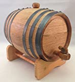 5 liter wine barrel - Premium Charred American Oak Aging Barrel - No Engraving (5 Liter)