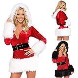 Skylin Christmas Fashion Women Sexy Deep V-Neck Spice Flexible Bodysuit Temptation Lingerie Babydoll S-XXL