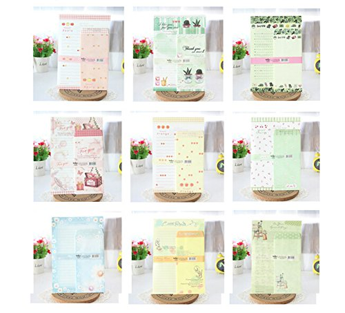 SCStyle 30 Cute Kawaii Lovely Special Design Writing Stationery Paper with 15 Envelope + 1 Sheet Label Seal Sticker (160x235mm)