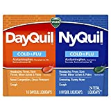 Vicks DayQuil and NyQuil Cold, Flu and Congestion Medicine, 24 LiquiCaps Convenience Pack, Relieves Cough, Sore Throat, Fever, Runny Nose, Daytime and Nighttime