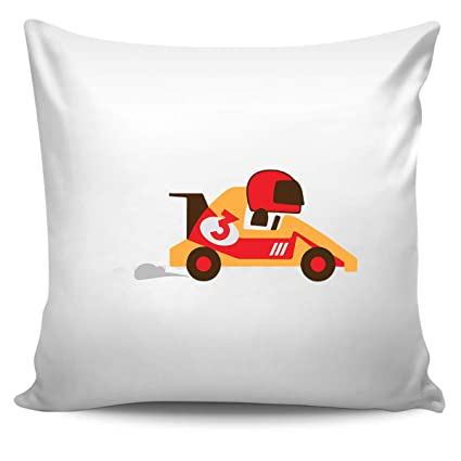 Image Unavailable Not Available For Color DoozyGifts99 3 Birthday Gift Ideas Racing Baby Kids Girl Boy Pillow