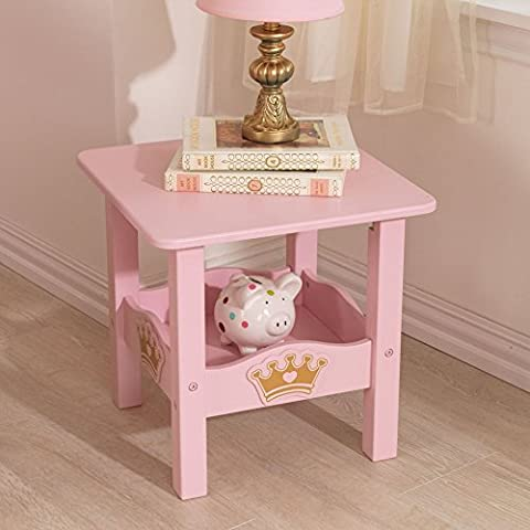 KidKraft Kids Twin Side Table Furniture, Pink