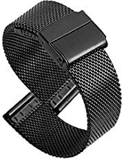 Watch Straps Milanese Stainless Steel Watch Band Ultra Thin Quick Release Bracelet for Men Women 20mm Black Exquisite
