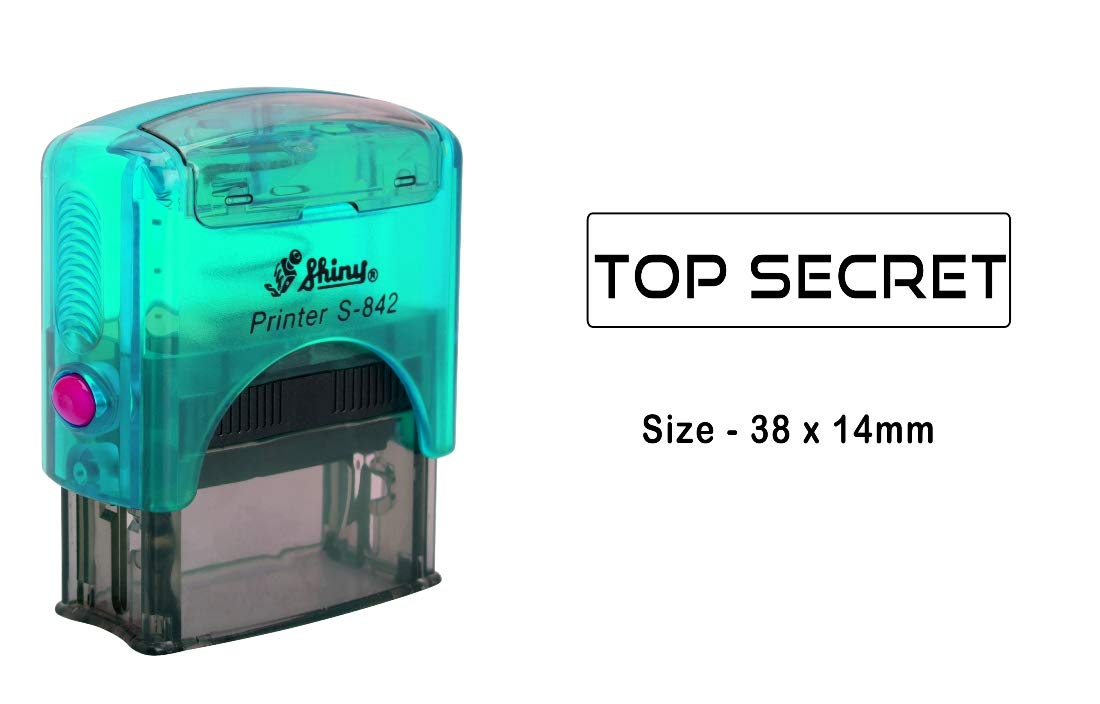 Noir Encre PrintValue Cachet Auto-Encreur Top Secret Shiny S-842 Pour Papeterie De Bureau
