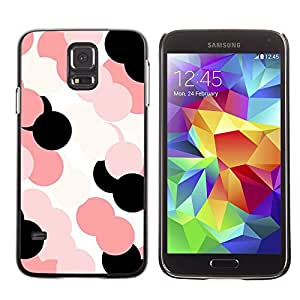 LECELL--Funda protectora / Cubierta / Piel For Samsung Galaxy S5 SM-G900 -- Pink Pattern White Black --