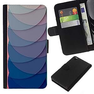 A-type (Paper Scale Pattern Green Clean) Colorida Impresión Funda Cuero Monedero Caja Bolsa Cubierta Caja Piel Card Slots Para HTC DESIRE 816